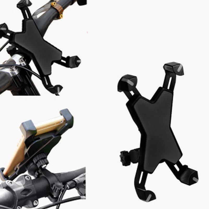 Black 360 Rotating Mountain Bike Phone Holder Mount Bracket