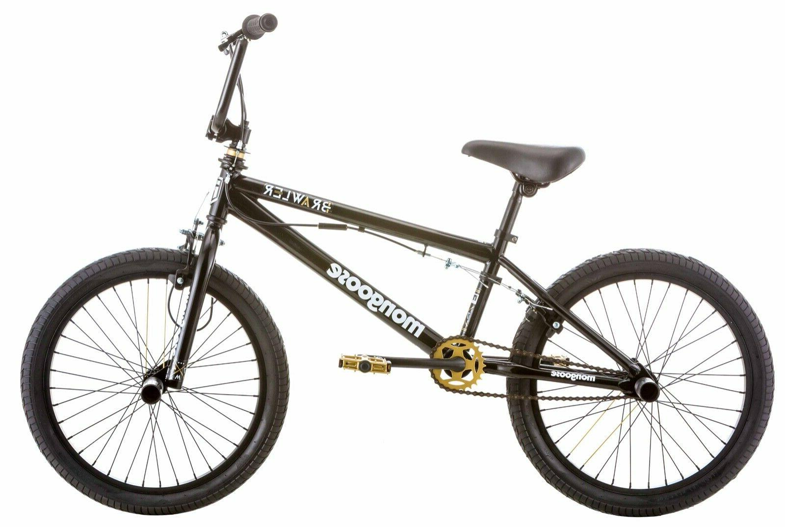 bmx brawler freestyle boys bike 20 steel