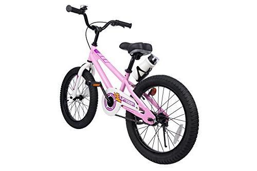 Royalbaby RB18B-6P Kids and Girl's Training Wheels, Children, 18 Pink