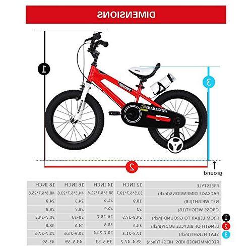 Royalbaby BMX Freestyle Kids Bike, and Bikes Training Wheels, Children, inch Pink