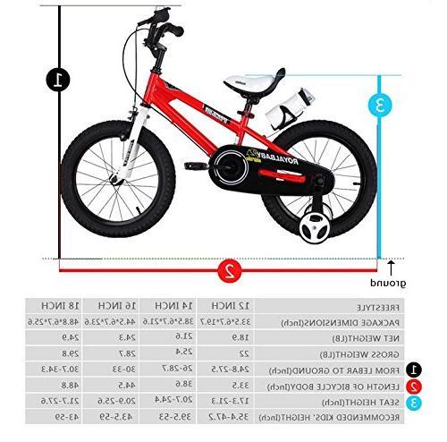 Royalbaby BMX Kids Bike, Boy's and Training Wheels, Children, inch Pink