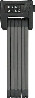 ABUS Bordo 6100 Combination Folding Lock 90cm Black with Bra