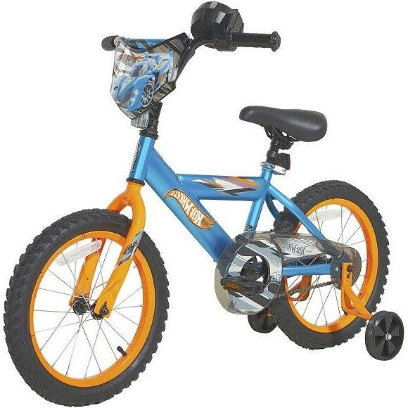 boys 16 hot wheels bike blue distressed