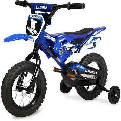 Boys Kids 12 Inch Bike Yamaha Moto Summer Bmx Training Wheel