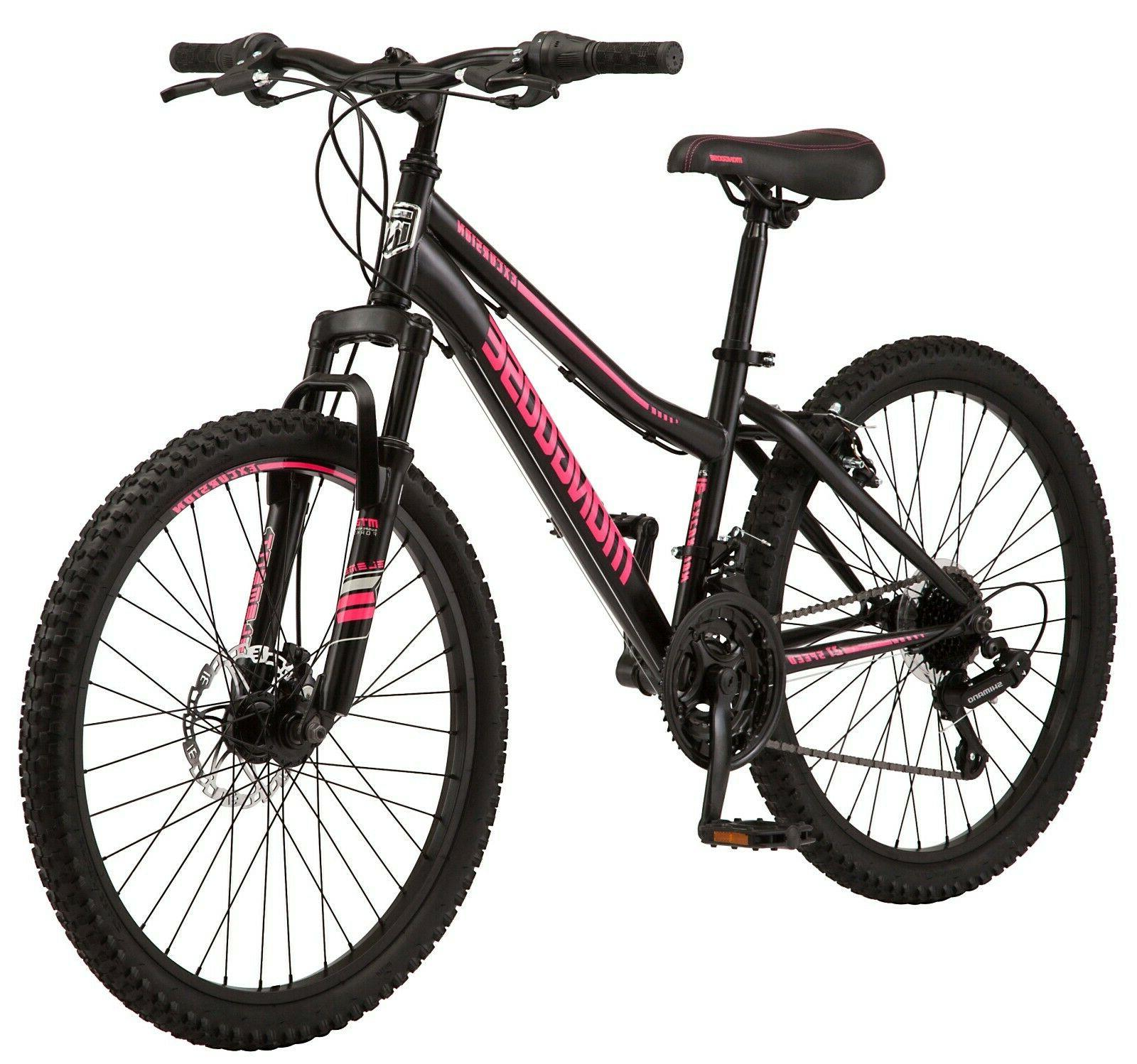 Mongoose Excursion Mountain Bike, 24-inch wheel, 21 speeds,
