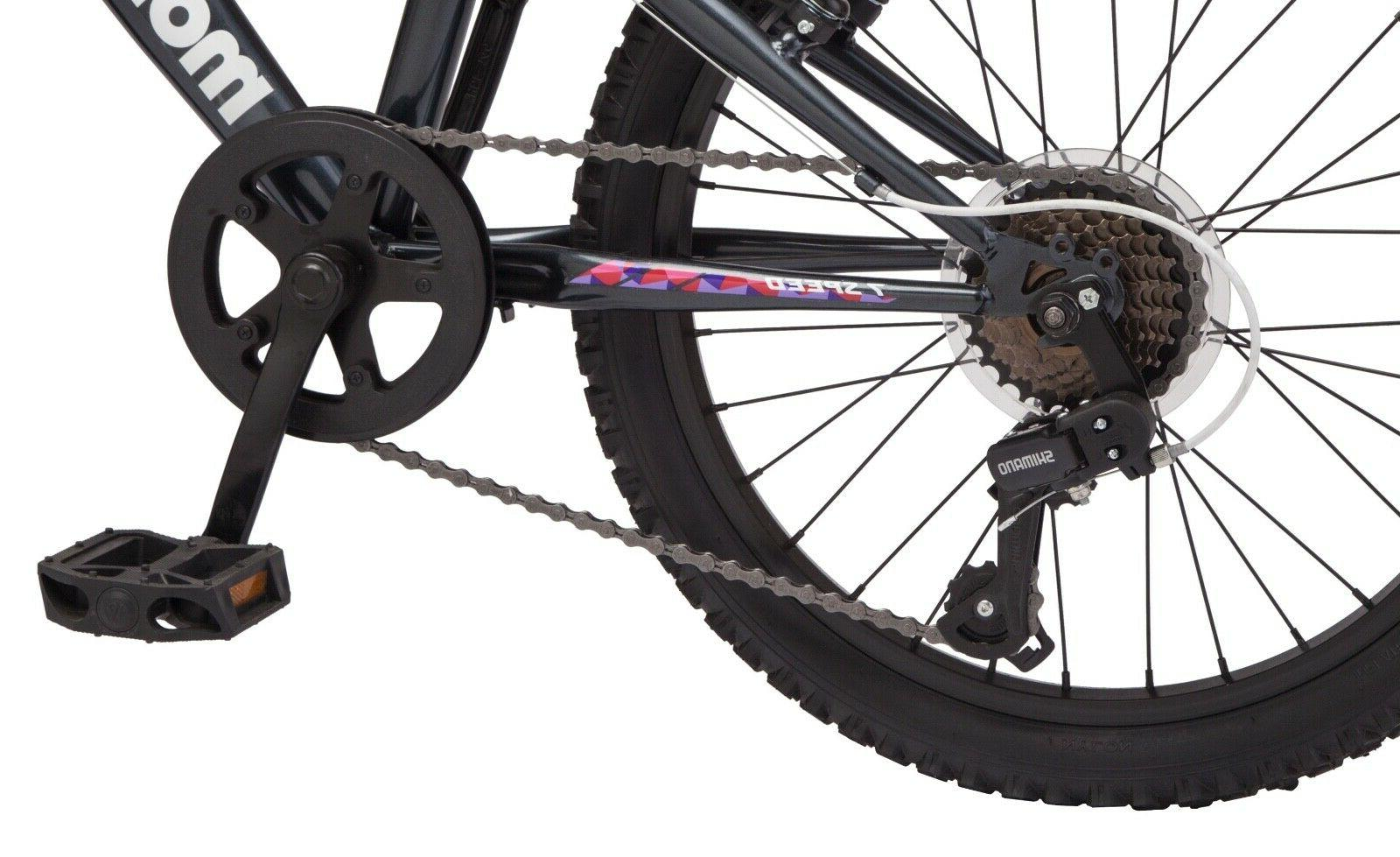 Mongoose Byte Mountain Bike, 20-inch 7 ages and