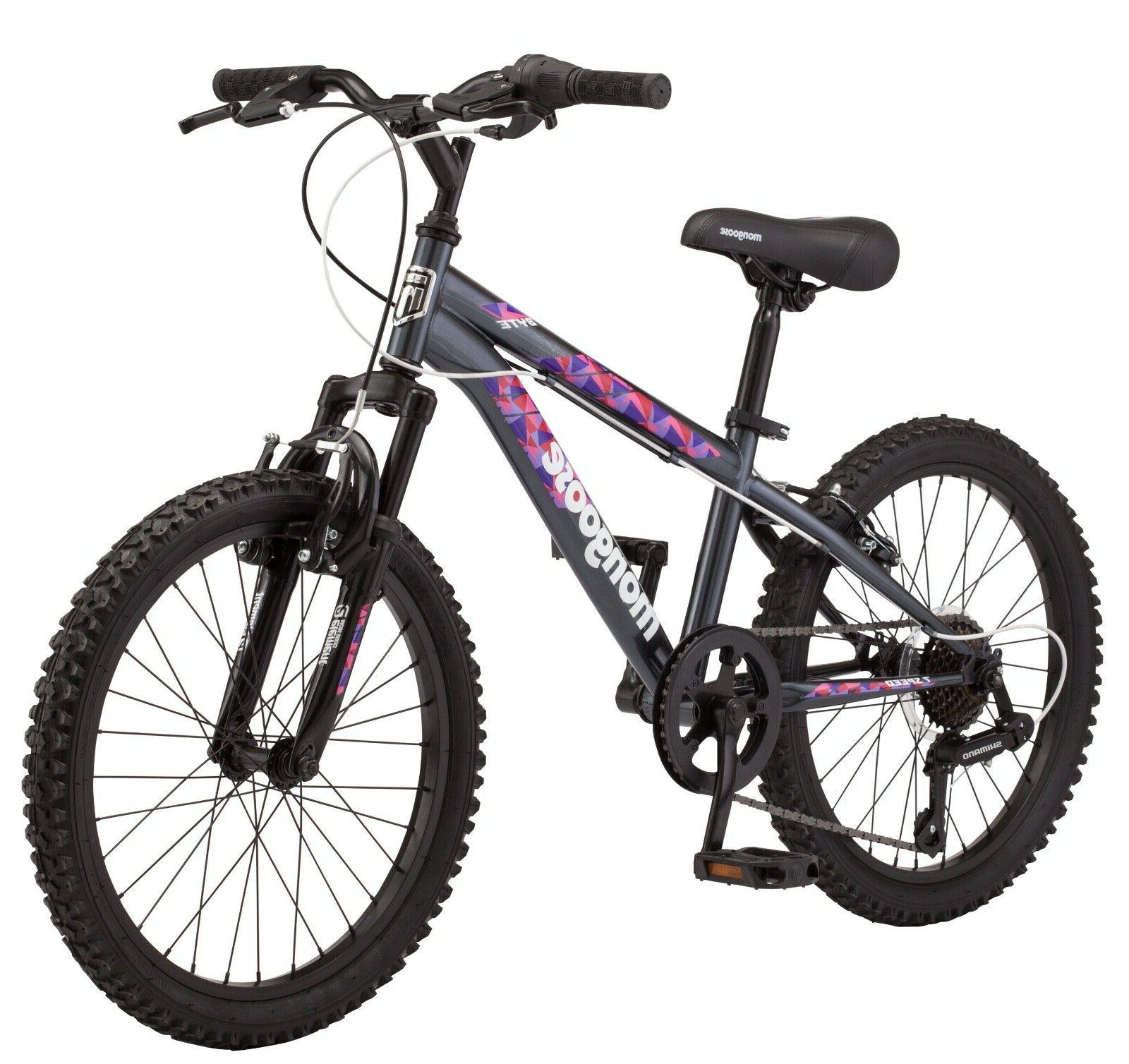 Mongoose Byte Mountain Bike, 20-inch speeds, ages and
