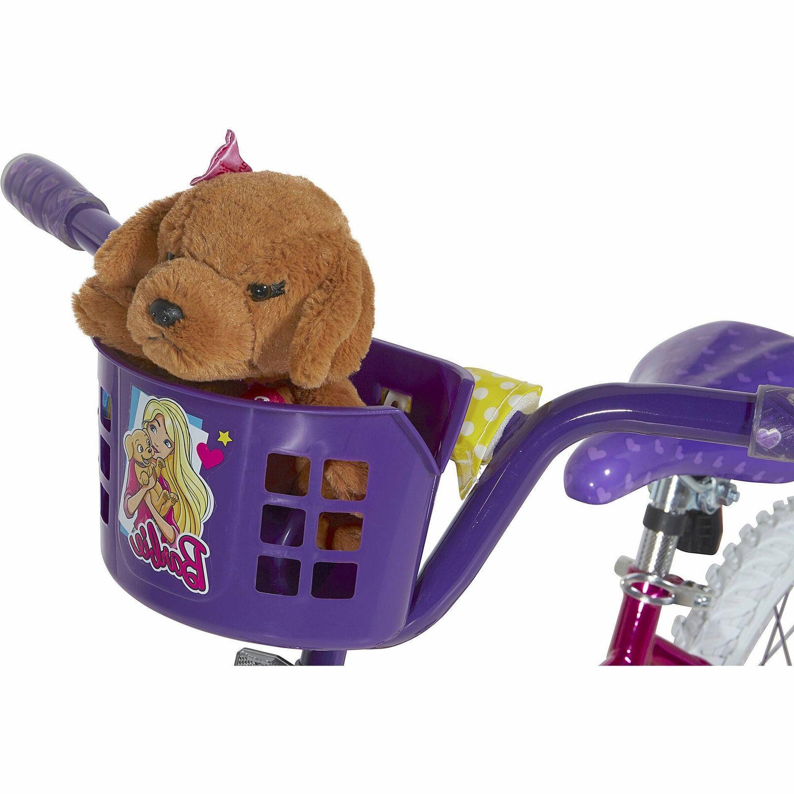 "Dynacraft Barbie 16"" Girls' Bike Learning Bicycle with Baske"