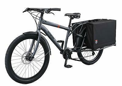Mongoose Envoy Cargo Bike with 26-Inch Wheels in Grey Choose