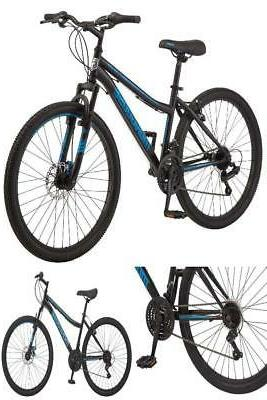 "Mongoose Excursion Mountain Bike Women's 26"" Black/Teal"