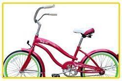 Micargi Famous for Girl - Pink - Beach Cruiser Bike Bicycle,