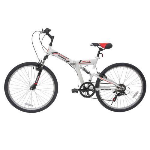 folding bike silver bicycle foldable