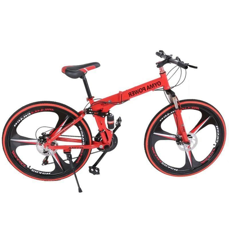 26in Folding Shimanos 21 Speed Bicycle Full Bikes