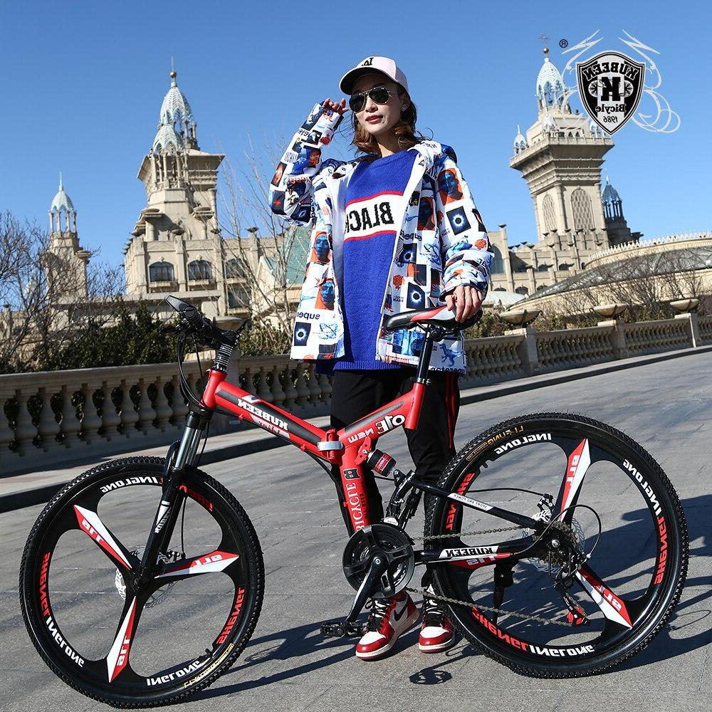 KUBEEN <font><b>mountain</b></font> steel bicycles dual disc variable <font><b>road</b></font> racing bicycle BMX