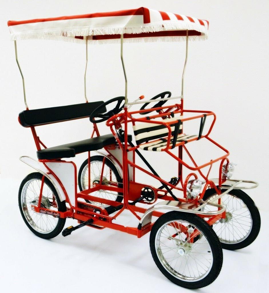 four wheel surrey bike 2 person bicycle