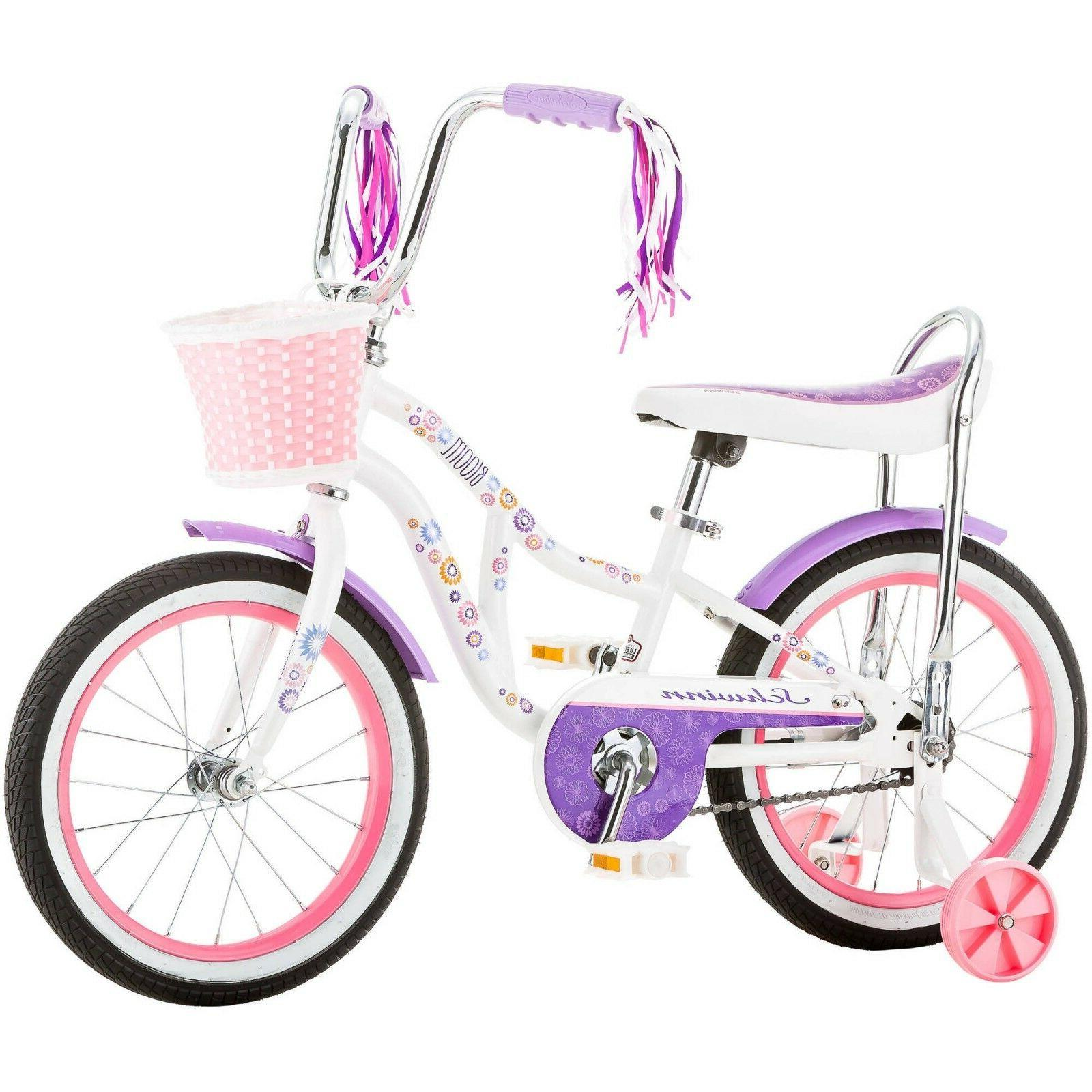 Girls Bike Children Kids Girl With Training Inch