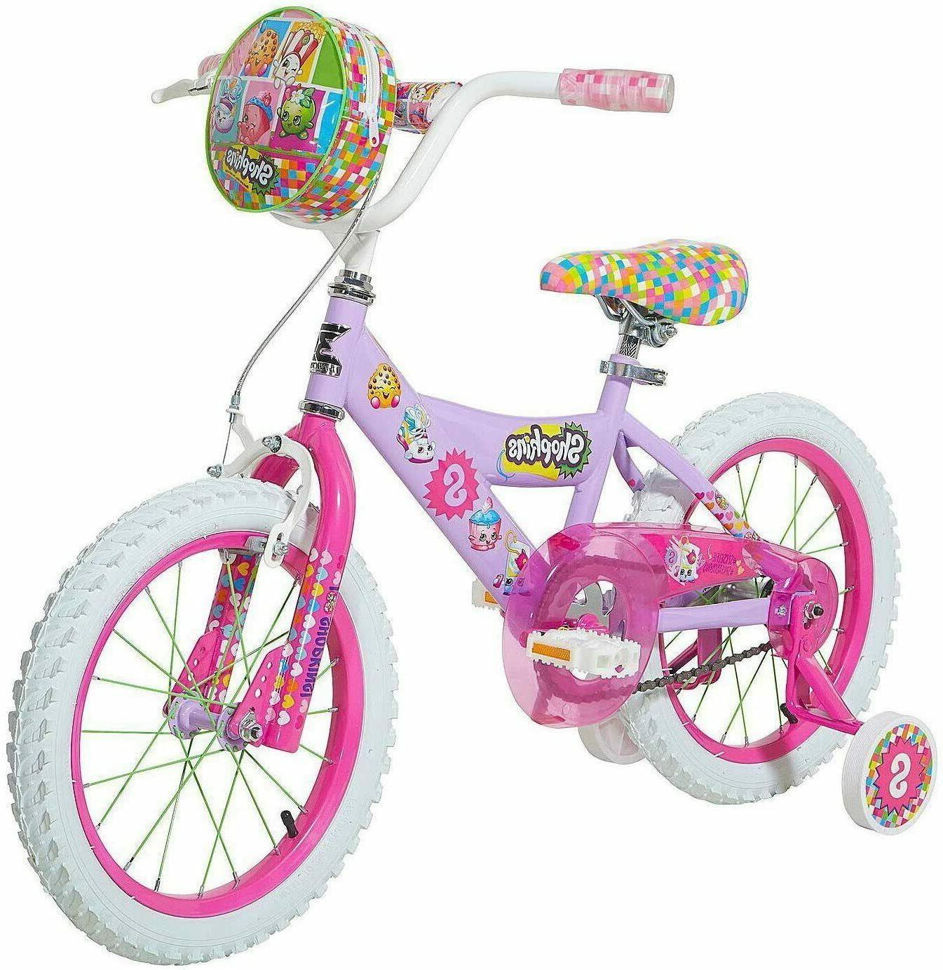 "Girls Kids 16"" Dynacraft Shopkins Bike Training Wheel Handle"