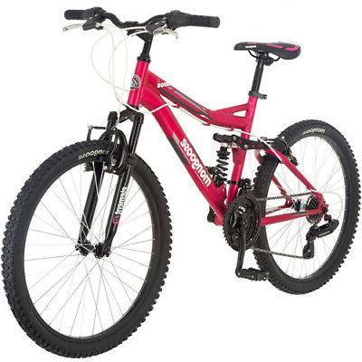 """24"""" Ledge 2.1 Girls' Mountain Bike, Pink-Mongoose-R2461WMADB"""