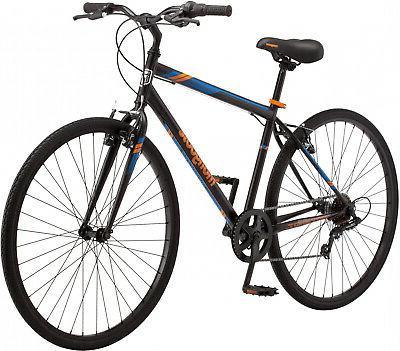 Mongoose Hotshot Hybrid Bike Commuter Fitness Mens Bicycle 7
