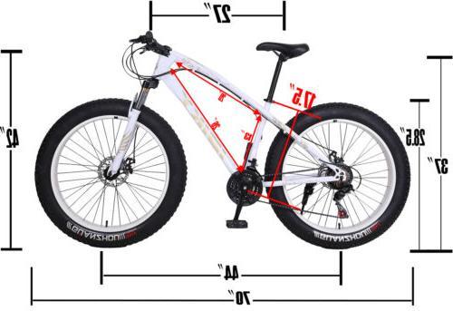 "26"" Fat Tire Bike Snow Fatbike"