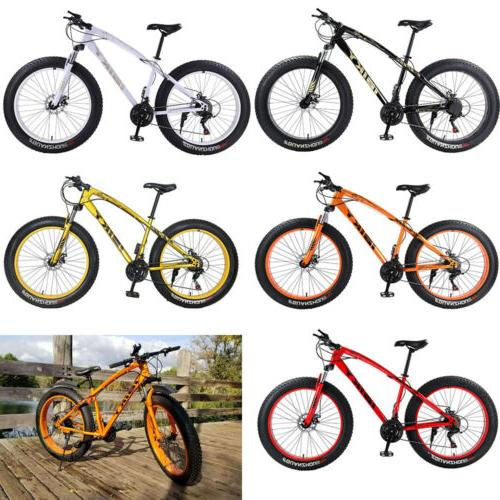 "26"" Speed Fat Tire Snow Bicycle Sand Fatbike"