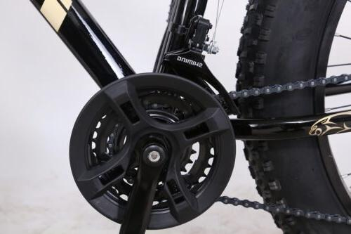 "26"" Fat Mountain Bike Snow Bicycle Sand Fatbike Gold"