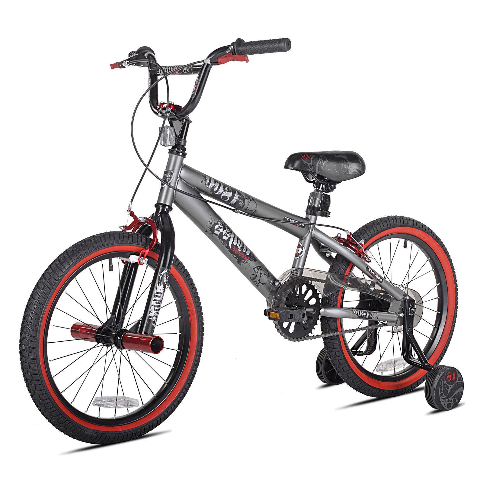 "Kent 18"" Boys Abyss FS18 BMX Kids Bike Single Speed Silver O"