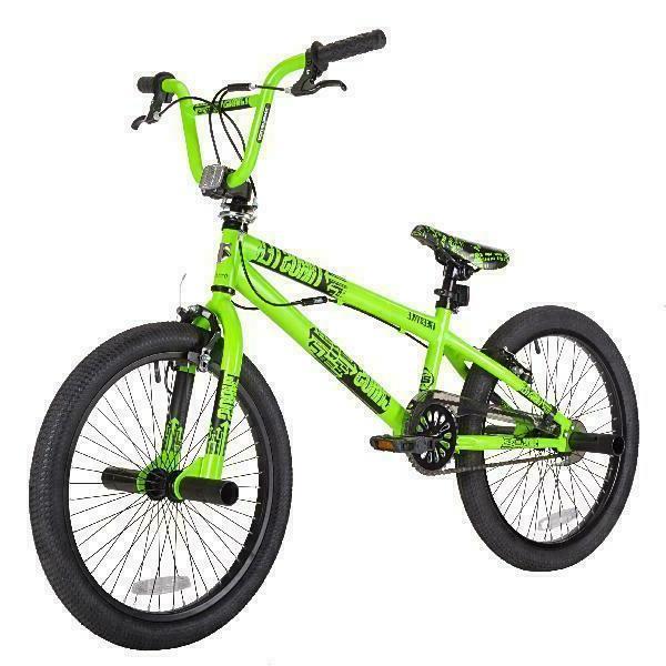 """Kent 20"""" Thruster Boys', Chaos Bmx Bike, Green, For Height S"""