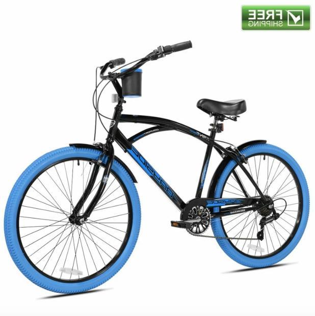 "Kent Cruiser Bike Men 26"" Black Comfort Beach City Commute"