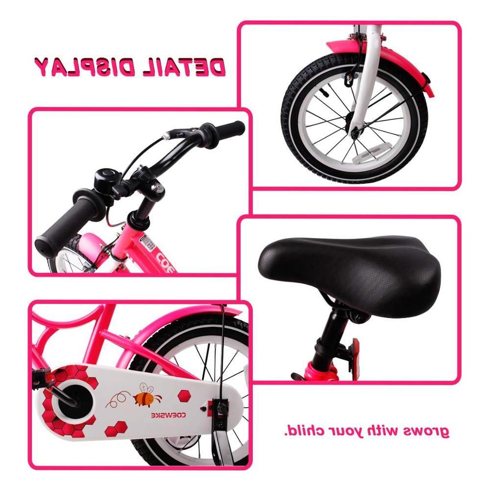 Kid's Bike Steel Frame <font><b>Children</b></font> <font><b>Bicycle</b></font> 14-16 Inch with