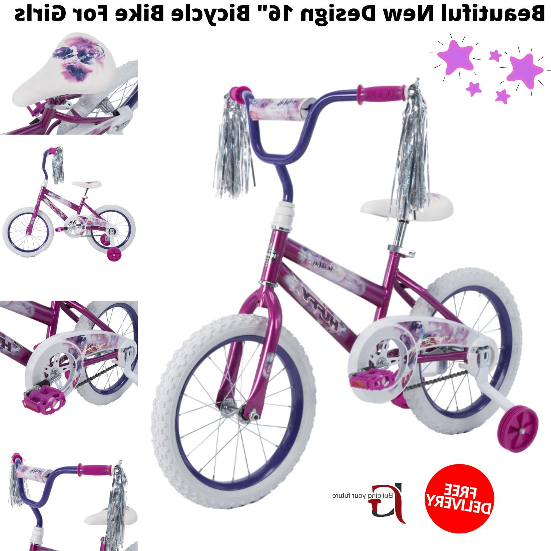 "Kids 16"" Bicycle Bike For Girls Sea Star Purple Beautiful Ne"