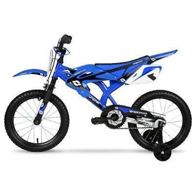 Kids Bikes Boys Blue Red Moto Bike BMX