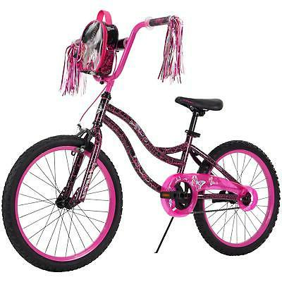 Huffy Kyro 20-inch Girls Bike for Kids, Pink / Black Crackle