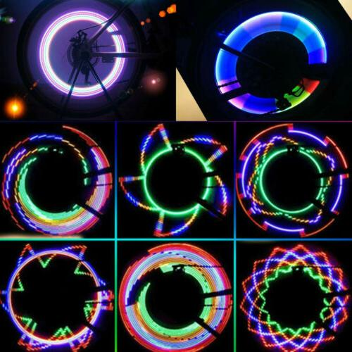 32 LED Patterns Cycling Bikes Bicycles Rainbow Wheel Signal