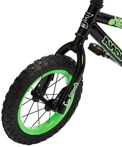 """Boys Bike 12"""", Black/Green"""
