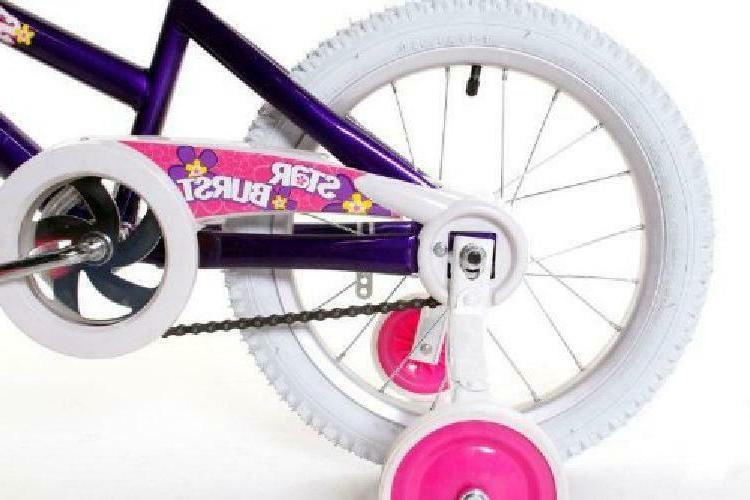 """Dynacraft Starburst Girls BMX Street/Dirt Bike 16"""", Purple/White/Pink"""