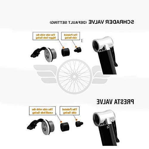 Mini Bike Pump by LERA - High 130 Compact