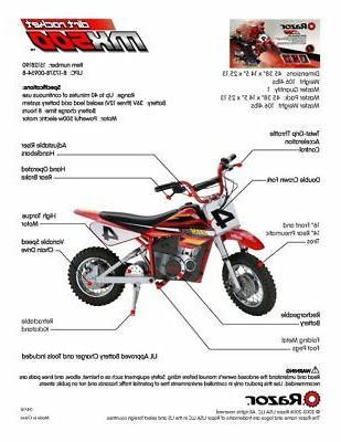 Razor Dirt High-Torque Electric Bike, MPH,