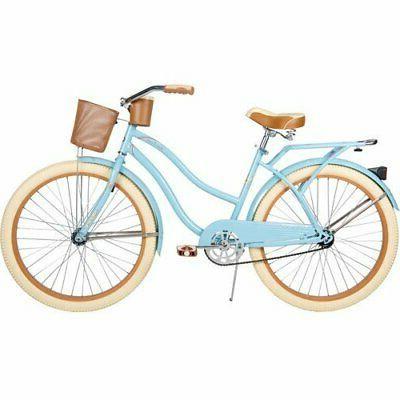 """26"""" Huffy Nel Lusso Women's Cruiser Bike, Gloss Blue"""