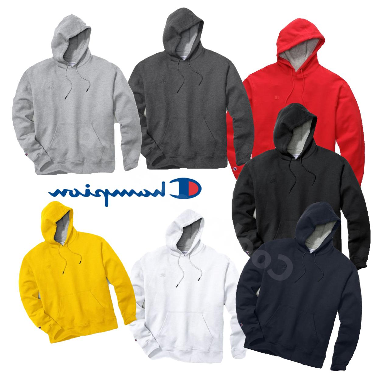 New Authentic Champion Men/'s Powerblend Fleece Pullover Hoodie S0889 407D55