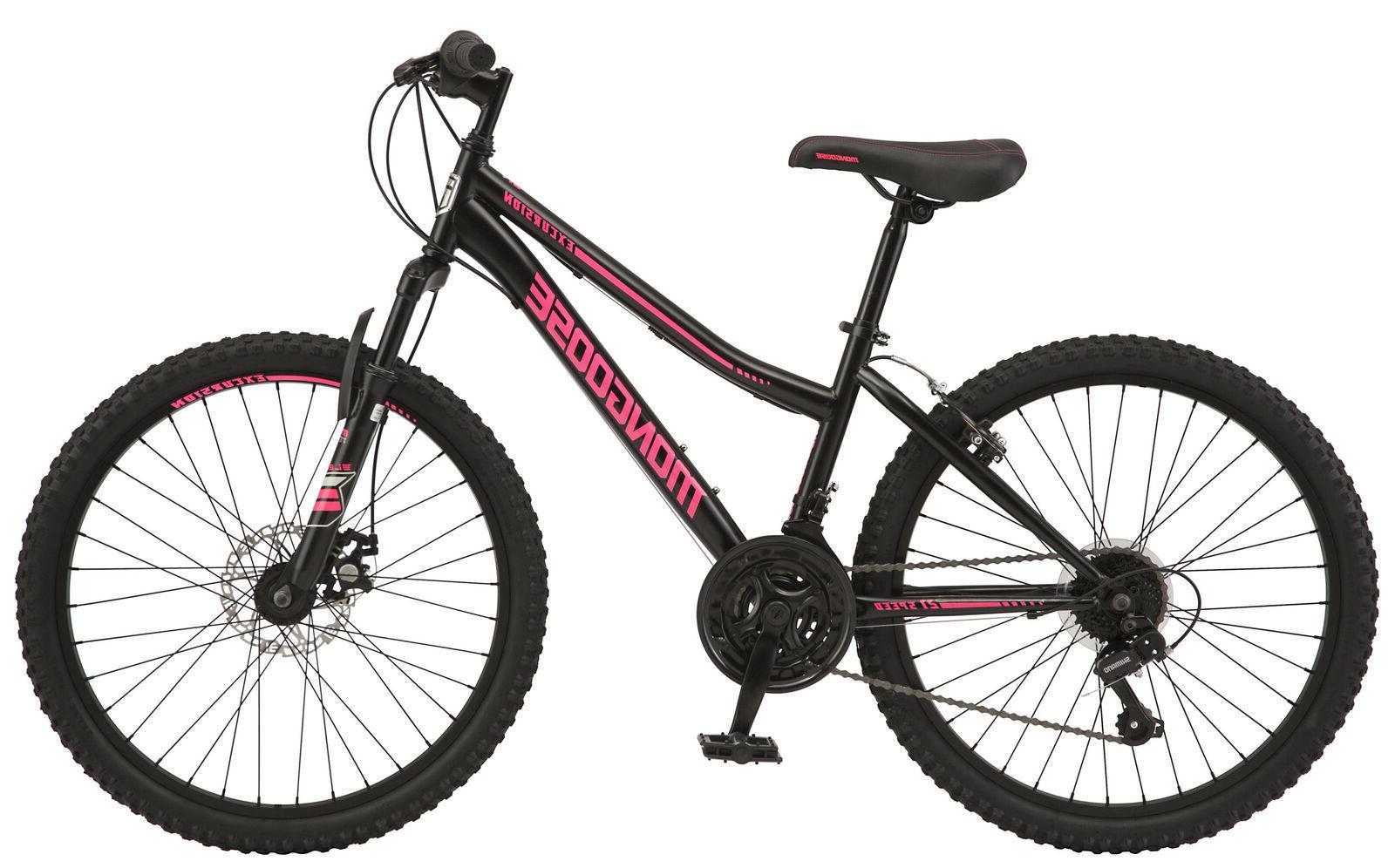 "New Excursion Girl Mountain Bike, - BLACK/PINK ""SHIP FAST"""
