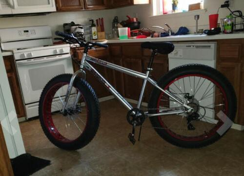 NEW Mongoose Fat Tire x speeds Silver Red/Maroon