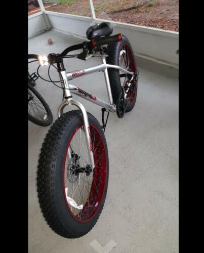 "NEW Malus Fat Tire 26 x 4"" wheels speeds Red/Maroon"