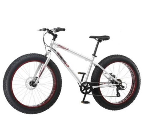 "NEW Fat Bike x 4"" 7 speeds Silver"