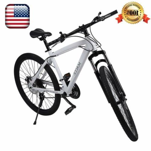 NEW Mountain Bike Men's 26inch White 21 Speed Double Disc Br