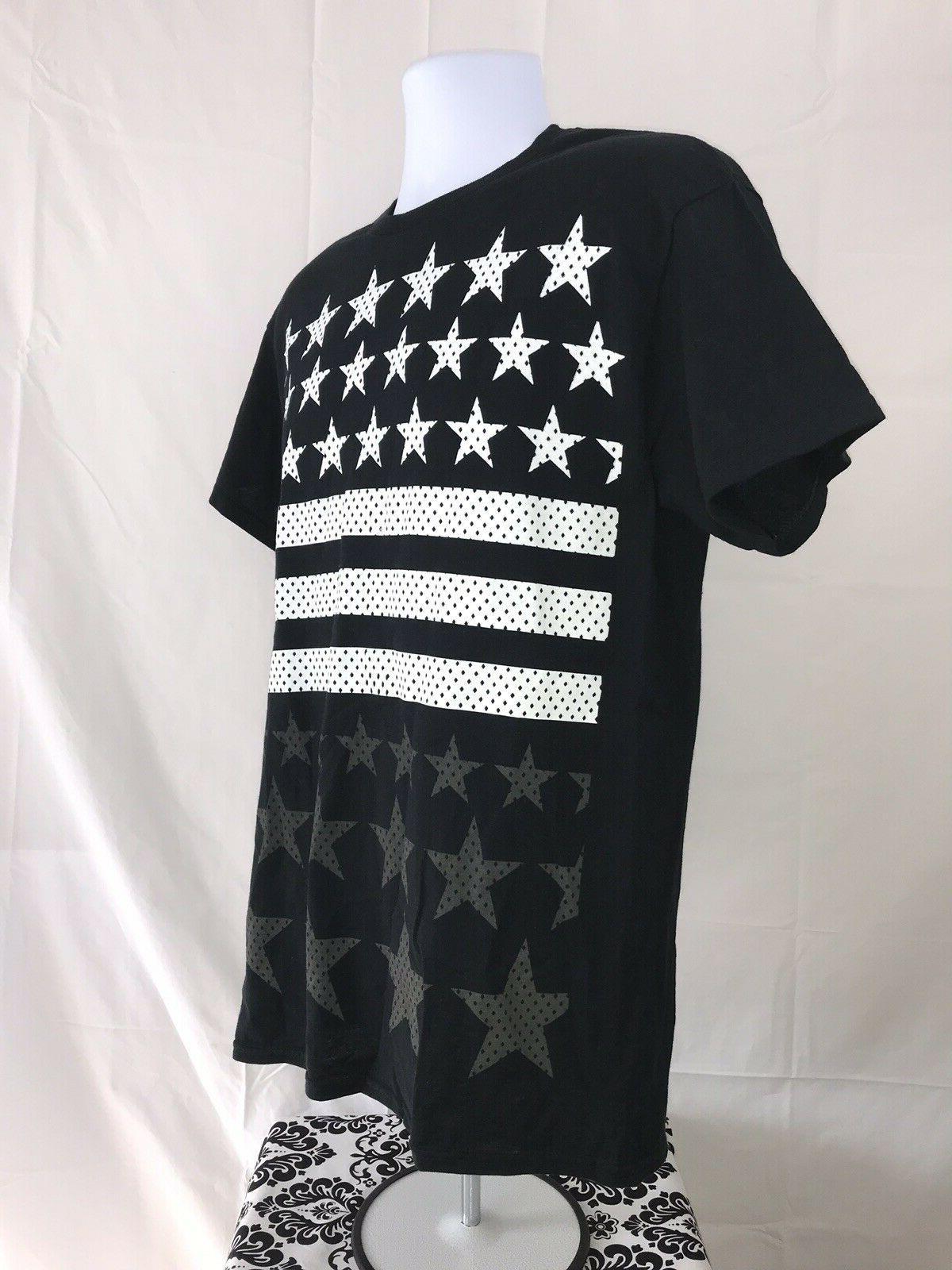 NWT MEDIUM American Flag Stars T Shirt BIKE