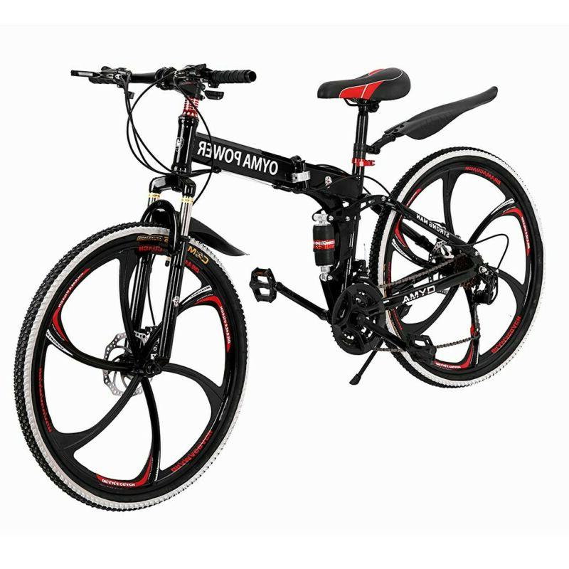 Outroad Mountain Bike 21 Speed 26 Folding Bike Double Bicycles