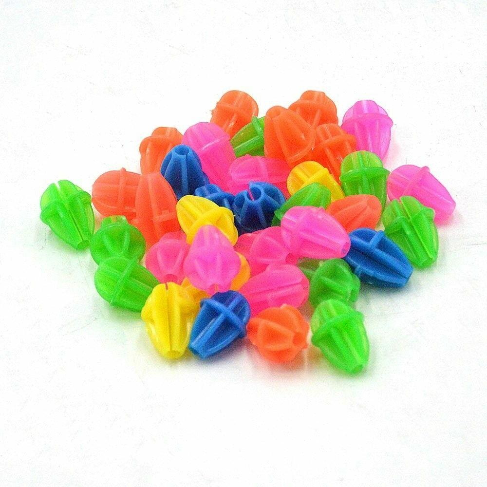 Wheel Beads Bicycle Plastic Spoke Clips Colored Decoration K