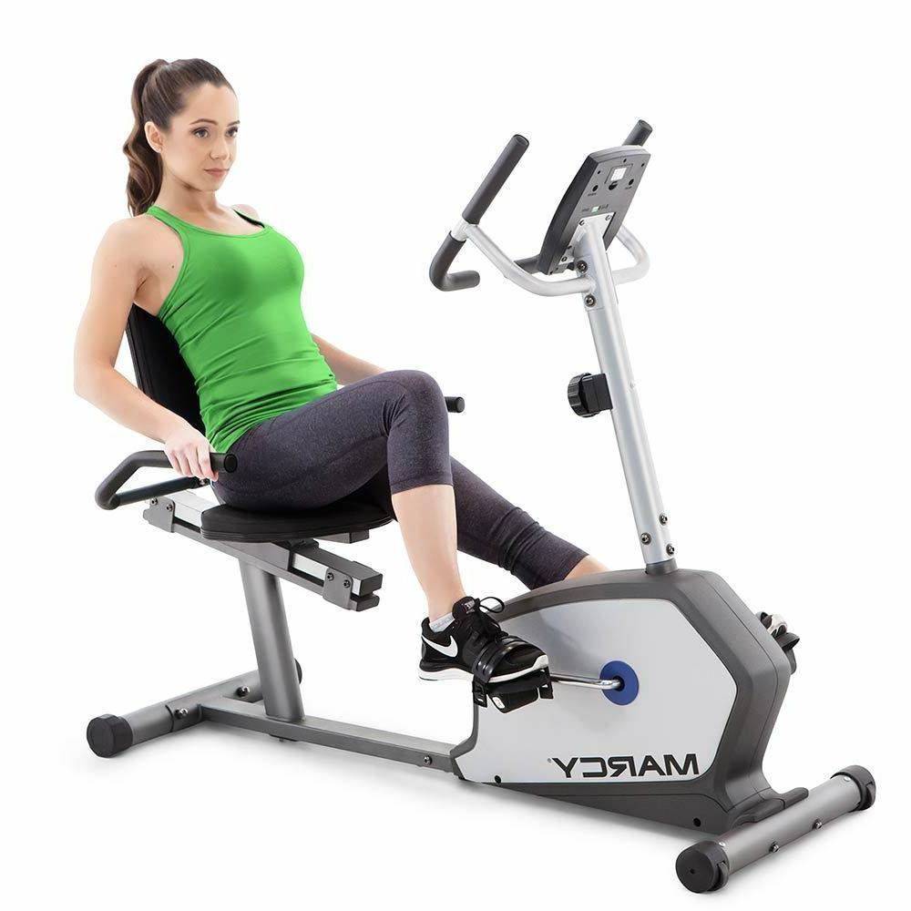 Marcy Recumbent Bike | NS-1201R Magnetic Cardio Exercise