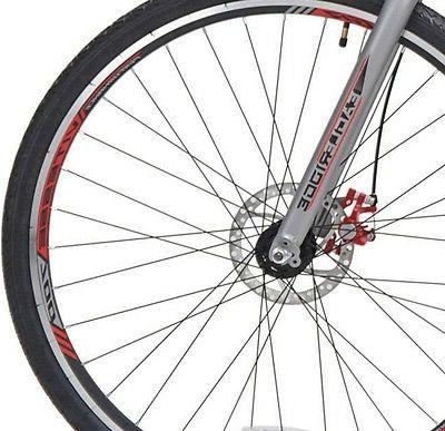 """Kent Road Bike 22.5"""" Bicycle 21-Speed Shimano Disc Brake Hybrid"""